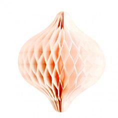 Décoration toupie papier rose pêche - site décorer le bonheur