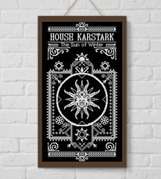 BOGO SALE, Cross stitch pattern, House Karstark, Game of Thrones, Cross-stitch PDF, Instant Download, Needlework, Embroidery, Digital #149 by LolitaMade on Etsy