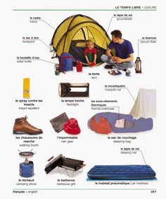 Any French vocabulary regarding camping?