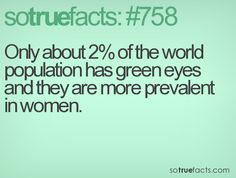 Well that's interesting. My mom, myself, and my daughter have green eyes...all a different shade.