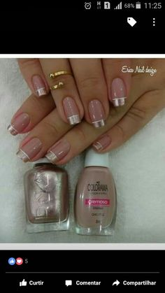 best Ideas for wedding manicure french hair colors Classy Nails, Stylish Nails, Gorgeous Nails, Pretty Nails, French Nail Designs, Best Acrylic Nails, Hot Nails, Manicure And Pedicure, Wedding Manicure