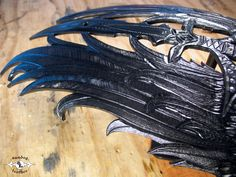 Carved & Tooled Leather Wing fender bib - free form cut-outs. Tooled Leather, Leather Tooling, Motorcycle Seats, Custom Leather, Motorcycle Accessories, Cut Outs, Bibs, Carving, Free
