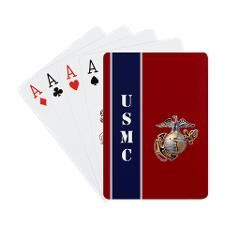 Red and Blue Marine playing cardsDid you know that 5% of proceeds from Cafepress on USMC do directly to the Marine Corps?