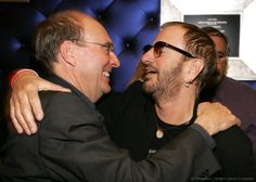 Genesis Publishing's Brian Rowlance (L) and musician Ringo Starr attend the launch party for the release of the book 'Concert For George' at the Taschen store on March 15, 2005 in Beverly Hills, California. The limited edition book is a tribute to the life of former Beatles member George Harrison.