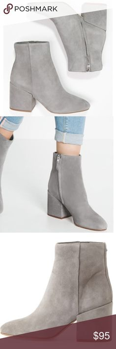 Sam Edelman Taye gray block heel boots 8 Size 8. Color in first few pics is most accurate. Only worn once, almost like new. No trades. Real suede Sam Edelman Shoes Ankle Boots & Booties