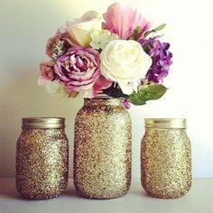 Glitter jars. DIY