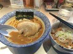 豚骨一燈 濃厚魚介ラーメン エビの辛み照り焼き風鶏めし¥780、¥30、¥250