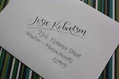Calligraphy & Hand Addressed Envelopes by inkybug on Etsy, $2.00