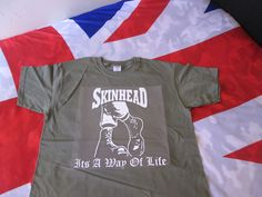 SKINHEAD BOOTS ITS A WAY OF LIFE T SHIRT Military Green