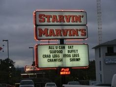Dining In Branson MO: Starvin Marvin's Restaurant.   Pinning because it's Starvin Marvin!!!!