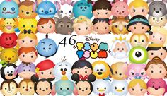 DISNEY TSUM TSUM. 46 High Resolution Digital by PenguinCre8tions