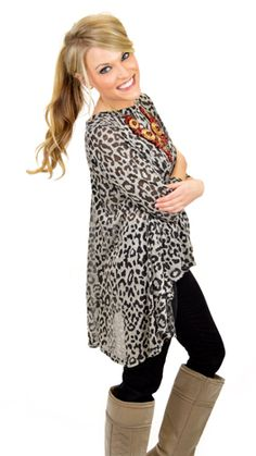 The best animal print in a neutral color! Available today at shopbluedoor.com!