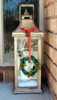 When you spend a lot of time on pinterest, your list of 'Things To Make or Do' becomes quite long, and after seeing pictures of beautiful Christmas lanterns, I knew I needed one ... or two. There w...