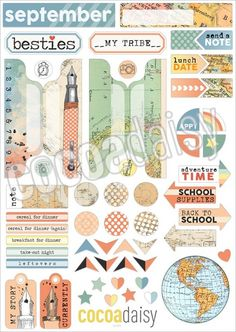 September Planner Stickers 2016