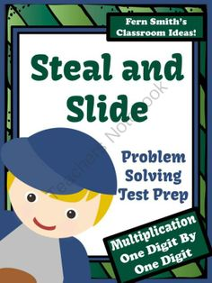 Test Prep Baseballs Steal and Slide Method - One By One Digit Multiplication from Fern Smith on TeachersNotebook.com -  (33 pages)  - Fern SMith's Test Prep Baseball's Steal and Slide Method - One By One Digit Multiplication