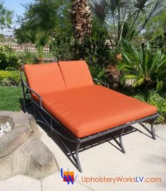 Outdoor Sunbrella Double Chaise Lounge By Upholstery Works In Las Vegas  Http://UpholsteryWorksLV