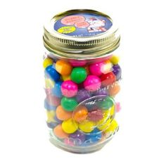 Remember how much you enjoyed putting your precious coins in the gumball machine? Then watching as those wonderfully round bubble gum balls came dropping out in your hand? Enjoy that same gum again. These Country Candies come in a reusable pint Mason jar.