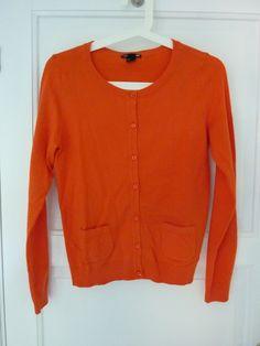HM orange cardigan