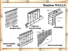 Bamboo WALLS        WOVEN         VERTICAL                                           BAJAREQUE      BAMBOO WALL   HALVED C...