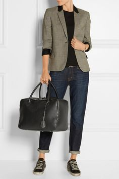 Golden Goose Deluxe Brand | Equipage medium textured-leather tote | NET-A-PORTER.COM