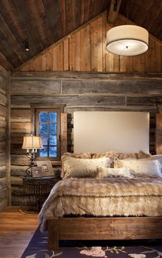 Cozy and warm bedroom to curl up into.