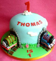Thomas the tank engine birthday cake by Star Bakery (Liana), via Flickr