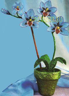 Орхидея «Искренность» - Бисероплетение