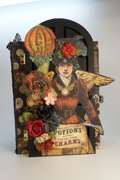 Designs by Shellie: 8-1/2 x 6-1/2 GRAPHIC 45 STEAMPUNK SPELLS MINI ALBUM