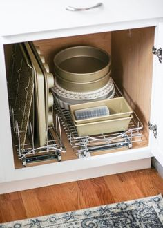 how to organize baking supplies with products from The Container Store. #TheContainerStore #HomeOrganization #KitchenOrganization