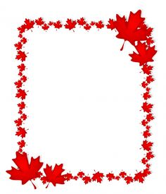 Canadian themed printables are perfect for a Canada themed party in your Geography class! Use this fun and free printable maple leaf Canada Day 150, Canada Day Crafts, Canada Day Party, Canada Holiday, Leaf Border, Canada Images, Paper Crafts, Diy Crafts, Patriotic Party