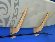 Paddleboard Rack - The O'ahu Series by Grassracks. Big gorgeous strong bamboo racks for big gorgeous SUPs. Display your board the way it deserves. Windsurfing, Wakeboarding, Surfboard Rack, Sup Boards, Kayak Storage, Bamboo Wall, Sup Surf, Paddle Boarding, Kayaking