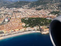 Seeing the World Through an Airplane Window - Nice, France.