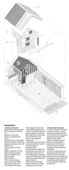 images about     architectural drawings on pinterest    thursford barn  norfolk by lynch architects