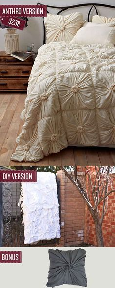 Many, MANY good DIY projects: curtains, bedspreads, jewelry, clothes... Sew a quilted bedspread.