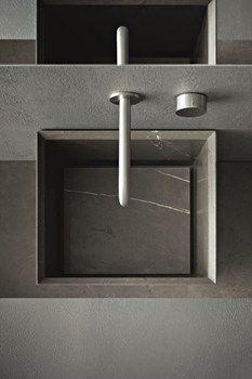 "Novello ""Craft"" wash basin in pietra grey opaca"