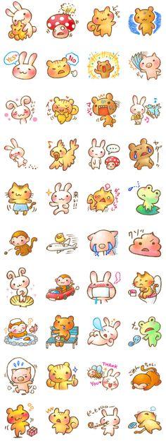 Rasen-Yumu,the illustrator drew pretty animals and friends.