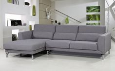 Xander Grey Contempory Fabric Sectional