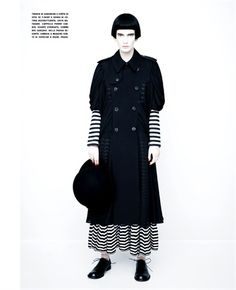 Fall Winter 2012-13 Collections: Prisoner stripes - click on the photo to see all garments and accessories in Photogallery.