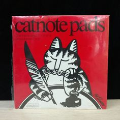 Kliban CatNotes Cat Note Pad Paper Memo List  5x8 3x8 Vintage