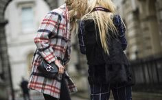 london fashion week street style plaid