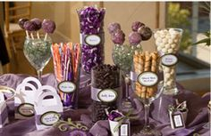 Trendy (and inexpensive) Candy Buffet. The perfect end to sweet wedding!