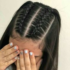 Easy Hairstyles For Long Hair, Braids For Long Hair, School Hairstyles, Braided Hairstyles Medium Hair, Cute Hairstyles With Braids, Hairstyle Ideas, Classy Hairstyles, Amazing Hairstyles, Updo Hairstyle