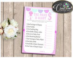 Rattler Baby Shower Baby Shower Rattler What's The Price Baby Lotion PRICE IS RIGHT, Prints, Digital Download - bsr01 #babyshowergames #babyshower