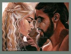 Daenerys and Khal Drogo by mandygeo