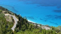 Looking down to the coast of Lefkada Exotic Beaches, Greek Islands, More Photos, Golf Courses, Greece, Coast, Water, Outdoor, Beautiful