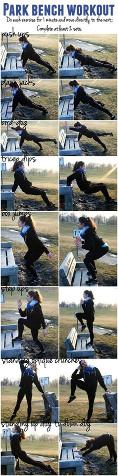 All you need is a bench and your body weight for this full body workout! All you need is a bench and your body weight for this full body workout! Fitness Workouts, At Home Workouts, Fitness Hacks, Body Workouts, Cardio, Fit Girl Motivation, Fitness Motivation, Body Weight, Weight Lifting