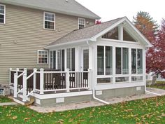 Sunroom Gallery - Capital District Contractors Informations About Sunroom Gallery - Cap Screened Porch Designs, Screened In Deck, Screened Porches, Four Seasons Room, Three Season Porch, Three Season Room, Sunroom Addition, Family Room Addition, Enclosed Patio