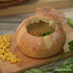 Bring back the bread bowl with this hearty soup.