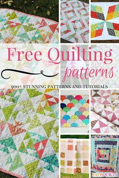 900+ Quilting Patterns - From cute baby quilt patterns to quilt patterns made from pre-cuts, our selection is insanely extensive. All of these quilting patterns are an amazing resource for sewing-lovers.