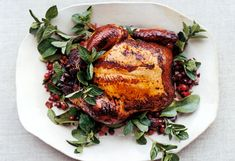 Cranberry and Lime-Leaf Drunken Chicken  I have no idea where to get lime leaves, but this sounds amazing.